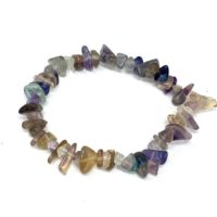 Fluorite Chip Stretchy Bracelet | Natural genuine Gemstone jewelry. Buy crystal jewelry, handmade handcrafted artisan jewelry for women.  Unique handmade gift ideas. #jewelry #beadedjewelry #beadedjewelry #gift #shopping #handmadejewelry #fashion #style #product #jewelry #affiliate #ad