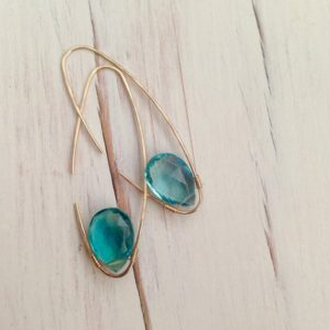 Shop Fluorite Jewelry! Fluorite Earrings Fluorite Oblong Hoop Fluorite Jewelry Gemstone Jewelry | Natural genuine Fluorite jewelry. Buy crystal jewelry, handmade handcrafted artisan jewelry for women.  Unique handmade gift ideas. #jewelry #beadedjewelry #beadedjewelry #gift #shopping #handmadejewelry #fashion #style #product #jewelry #affiliate #ad