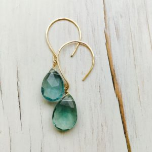 Shop Fluorite Jewelry! Fluorite Earrings Teardrop Fluorite Dangle Earrings Gemstone Jewelry Blue Green Fluorite Earrings | Natural genuine Fluorite jewelry. Buy crystal jewelry, handmade handcrafted artisan jewelry for women.  Unique handmade gift ideas. #jewelry #beadedjewelry #beadedjewelry #gift #shopping #handmadejewelry #fashion #style #product #jewelry #affiliate #ad