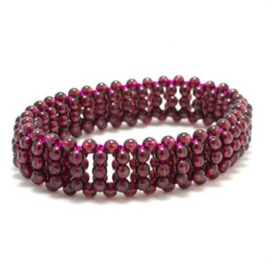 Shop Garnet Bracelets! Garnet Bead Bracelet/ Woven Bead Bracelet/ Red Garnet Bracelet/ Red Woven Bracelet/ Red Cuff Bracelet | Natural genuine Garnet bracelets. Buy crystal jewelry, handmade handcrafted artisan jewelry for women.  Unique handmade gift ideas. #jewelry #beadedbracelets #beadedjewelry #gift #shopping #handmadejewelry #fashion #style #product #bracelets #affiliate #ad