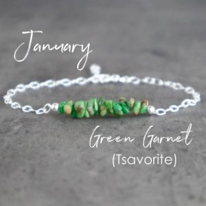 Shop Garnet Bracelets! Tsavorite Garnet Bracelet, Green Garnet Bracelet, January Birthstone Bracelet, Tsavorite Bracelet, Raw Crystal Bracelet | Natural genuine Garnet bracelets. Buy crystal jewelry, handmade handcrafted artisan jewelry for women.  Unique handmade gift ideas. #jewelry #beadedbracelets #beadedjewelry #gift #shopping #handmadejewelry #fashion #style #product #bracelets #affiliate #ad