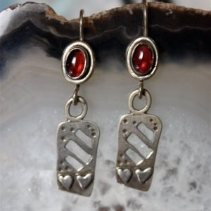 Shop Garnet Earrings! Garnet Earrings, Heart Earrings, Silver Earrings, Silver Heart,  Silver Heart Earrings, Silver Dangle Earrings, Boho Earrings, Boho Jewelry | Natural genuine Garnet earrings. Buy crystal jewelry, handmade handcrafted artisan jewelry for women.  Unique handmade gift ideas. #jewelry #beadedearrings #beadedjewelry #gift #shopping #handmadejewelry #fashion #style #product #earrings #affiliate #ad