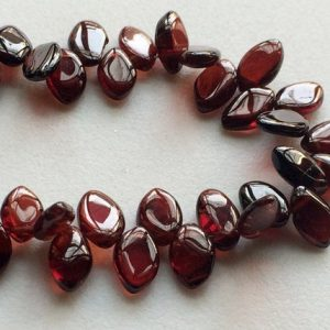 Shop Garnet Bead Shapes! 7x10mm – 7x13mm Approx Garnet Plain Marquise Beads, Garnet Necklace, Red Garnet Beads Plain Beads For Jewelry, 8Inch Garnet Beads – GODP1051 | Natural genuine other-shape Garnet beads for beading and jewelry making.  #jewelry #beads #beadedjewelry #diyjewelry #jewelrymaking #beadstore #beading #affiliate #ad