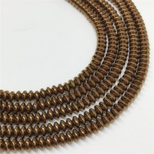 Shop Hematite Rondelle Beads! 4x2mm Bronze Hematite Beads, Hematite Rondelle Beads, Hematite Jewelry | Natural genuine rondelle Hematite beads for beading and jewelry making.  #jewelry #beads #beadedjewelry #diyjewelry #jewelrymaking #beadstore #beading #affiliate #ad