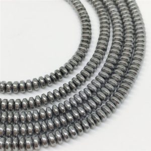 Shop Hematite Rondelle Beads! 4x2mm Silver Hematite Beads, Hematite Rondelle Beads, Hematite Jewelry | Natural genuine rondelle Hematite beads for beading and jewelry making.  #jewelry #beads #beadedjewelry #diyjewelry #jewelrymaking #beadstore #beading #affiliate #ad