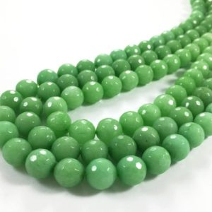 Shop Jade Faceted Beads! 10mm Faceted Green Jade Beads, Gemstone Beads, Wholesale Beads | Natural genuine faceted Jade beads for beading and jewelry making.  #jewelry #beads #beadedjewelry #diyjewelry #jewelrymaking #beadstore #beading #affiliate #ad