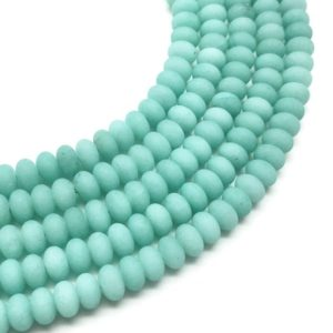 Shop Jade Rondelle Beads! 8x5mm Matte Green Jade Rondelle Beads, Rondelle Stone Beads, Gemstone Beads | Natural genuine rondelle Jade beads for beading and jewelry making.  #jewelry #beads #beadedjewelry #diyjewelry #jewelrymaking #beadstore #beading #affiliate #ad