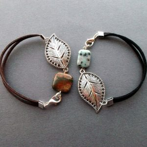 simple bracelets gemstones minimal bracelet jasper lotus jasper big leaf minimalist jewelry idea gift for women girls girlfriend sister | Natural genuine Jasper bracelets. Buy crystal jewelry, handmade handcrafted artisan jewelry for women.  Unique handmade gift ideas. #jewelry #beadedbracelets #beadedjewelry #gift #shopping #handmadejewelry #fashion #style #product #bracelets #affiliate #ad