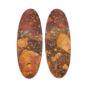 Shop Jasper Cabochons! Maligano Jasper Pair Cts 44 Cab Maligano Stone, Maligano Jasper Gemstone Cab, pair Maligano Jasper Cabochon, Aaa Top Quality Maligano Stone | Natural genuine stones & crystals in various shapes & sizes. Buy raw cut, tumbled, or polished gemstones for making jewelry or crystal healing energy vibration raising reiki stones. #crystals #gemstones #crystalhealing #crystalsandgemstones #energyhealing #affiliate #ad