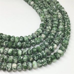 Shop Jasper Faceted Beads! 8x5mm Faceted Green Spot Jasper Beads, Gemstone Beads, Wholesale Beads | Natural genuine faceted Jasper beads for beading and jewelry making.  #jewelry #beads #beadedjewelry #diyjewelry #jewelrymaking #beadstore #beading #affiliate #ad