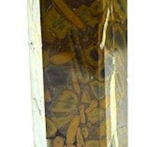 "Shop Jasper Points & Wands! Bamboo Leaf Jasper Tower 8.7"" Tall and weighs 3.15 pounds 