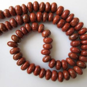 Shop Red Jasper Beads! 10mm Red Jasper Rondelle Beads, Smooth Rondelle Beads, 18 Inch Strand, GDS664 | Natural genuine beads Jasper beads for beading and jewelry making.  #jewelry #beads #beadedjewelry #diyjewelry #jewelrymaking #beadstore #beading #affiliate #ad