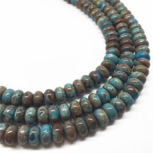 Shop Jasper Rondelle Beads! 8x5mm Blue Calsilica Jasper Beads, Rondelle Beads, Gemstone Beads, Wholesale Beads | Natural genuine rondelle Jasper beads for beading and jewelry making.  #jewelry #beads #beadedjewelry #diyjewelry #jewelrymaking #beadstore #beading #affiliate #ad