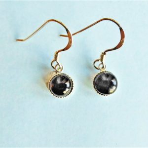 Shop Jet Earrings! Whitby Jet And Sterling Silver Small Earrings | Natural genuine Jet earrings. Buy crystal jewelry, handmade handcrafted artisan jewelry for women.  Unique handmade gift ideas. #jewelry #beadedearrings #beadedjewelry #gift #shopping #handmadejewelry #fashion #style #product #earrings #affiliate #ad