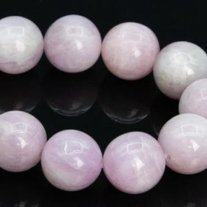 "Shop Kunzite Beads! 10-11MM Light Color Kunzite Beads Brazil Grade A+ Genuine Natural Gemstone Half Strand Round Loose Beads 7.5"" (109129h-2877) 