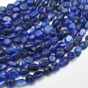 Shop Kyanite Chip & Nugget Beads! Kyanite Beads, Approx 6x7mm Nugget Beads, 15.5 Inch, full Strand, Approx 50-55 Beads, Hole 1mm (294047001) | Natural genuine chip Kyanite beads for beading and jewelry making.  #jewelry #beads #beadedjewelry #diyjewelry #jewelrymaking #beadstore #beading #affiliate #ad