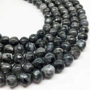 10mm Faceted Black Labradorite Beads, Round Gemstone Beads, Wholesale Beads | Natural genuine faceted Array beads for beading and jewelry making.  #jewelry #beads #beadedjewelry #diyjewelry #jewelrymaking #beadstore #beading #affiliate #ad