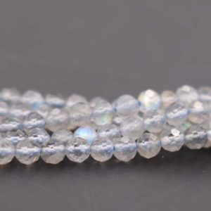 Shop Labradorite Faceted Beads! 3mm Natural Labradorite Faceted Small Size Beads,3mm Small Size Beads Wholesale Bulk supply,15 inches one starand | Natural genuine faceted Labradorite beads for beading and jewelry making.  #jewelry #beads #beadedjewelry #diyjewelry #jewelrymaking #beadstore #beading #affiliate #ad
