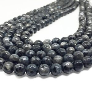 8mm Faceted Black Labradorite Beads, Labradorite Gemstone Beads, Wholesale Beads | Natural genuine faceted Array beads for beading and jewelry making.  #jewelry #beads #beadedjewelry #diyjewelry #jewelrymaking #beadstore #beading #affiliate #ad