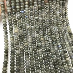 Shop Labradorite Rondelle Beads! 8x5mm Gray Labradorite Rondelle Beads, Rondelle Stone Beads, Gemstone Beads | Natural genuine rondelle Labradorite beads for beading and jewelry making.  #jewelry #beads #beadedjewelry #diyjewelry #jewelrymaking #beadstore #beading #affiliate #ad