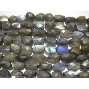 Shop Labradorite Chip & Nugget Beads! Labradorite Tumbles, 15mm To 20mm Beads, Blue Gem Stone, Faceted Beads, High Quality Beads, 12 Inch Strand | Natural genuine chip Labradorite beads for beading and jewelry making.  #jewelry #beads #beadedjewelry #diyjewelry #jewelrymaking #beadstore #beading #affiliate #ad