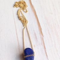Lapis Necklace Gemstone Layering Necklace Lapis Jewelry | Natural genuine Gemstone jewelry. Buy crystal jewelry, handmade handcrafted artisan jewelry for women.  Unique handmade gift ideas. #jewelry #beadedjewelry #beadedjewelry #gift #shopping #handmadejewelry #fashion #style #product #jewelry #affiliate #ad