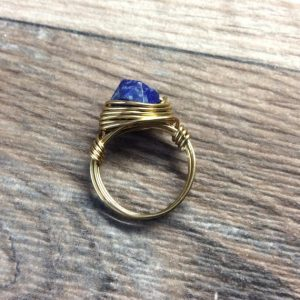 Shop Lapis Lazuli Rings! Lapis Lazuli ring – 14k gold filled or Sterling silver, faceted wire wrapped gemstone ring | Natural genuine Lapis Lazuli rings, simple unique handcrafted gemstone rings. #rings #jewelry #shopping #gift #handmade #fashion #style #affiliate #ad