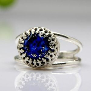 birthstone ring,silver ring,Lapis ring,gemstone ring,delicate ring,success ring,birthday ring,graduation gift | Natural genuine Lapis Lazuli rings, simple unique handcrafted gemstone rings. #rings #jewelry #shopping #gift #handmade #fashion #style #affiliate #ad