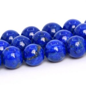 "Shop Lapis Lazuli Round Beads! 5MM Lapis Lazuli Beads Afghanistan Grade AA+ Genuine Natural Gemstone Full Strand Round Loose Beads 15.5"" BULK LOT 1,3,5,10,50 (105268-1489) 