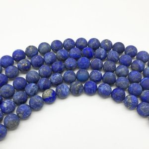 Shop Lapis Lazuli Round Beads! 8mm Matte Lapis Lazuli Beads, Round Gemstone Beads, Wholesale Beads | Natural genuine round Lapis Lazuli beads for beading and jewelry making.  #jewelry #beads #beadedjewelry #diyjewelry #jewelrymaking #beadstore #beading #affiliate #ad
