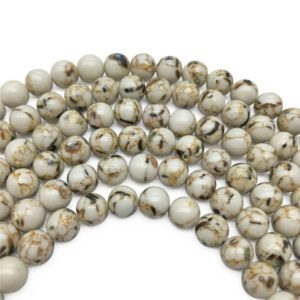 Shop Magnesite Beads! 8mm Magnesite Beads, Round Gemstones Beads, Wholesale Beads | Natural genuine round Magnesite beads for beading and jewelry making.  #jewelry #beads #beadedjewelry #diyjewelry #jewelrymaking #beadstore #beading #affiliate #ad
