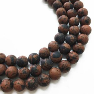 Shop Mahogany Obsidian Beads! 10mm Matte Mahogany Obsidian Beads, Round Gemstone Beads, Wholesale Beads | Natural genuine round Mahogany Obsidian beads for beading and jewelry making.  #jewelry #beads #beadedjewelry #diyjewelry #jewelrymaking #beadstore #beading #affiliate #ad