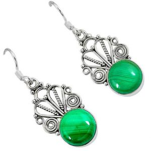 Shop Malachite Earrings! sale, Very Beautiful Green Malachite Earrings, 925 Silver, Prosperity Stone | Natural genuine Malachite earrings. Buy crystal jewelry, handmade handcrafted artisan jewelry for women.  Unique handmade gift ideas. #jewelry #beadedearrings #beadedjewelry #gift #shopping #handmadejewelry #fashion #style #product #earrings #affiliate #ad