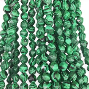 Shop Malachite Faceted Beads! Faceted Green Malachite Beads, Star Cut Beads, Gemstone Beads, 8mm 10mm | Natural genuine faceted Malachite beads for beading and jewelry making.  #jewelry #beads #beadedjewelry #diyjewelry #jewelrymaking #beadstore #beading #affiliate #ad