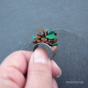 Shop Malachite Rings! Malachite ring, Tiger Eye ring, copper adjustable wiring multi gemstones ring, courage crystals, bohemian jewelry, gift for women | Natural genuine Malachite rings, simple unique handcrafted gemstone rings. #rings #jewelry #shopping #gift #handmade #fashion #style #affiliate #ad