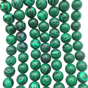 Shop Malachite Round Beads! 10mm Malachite Beads, Round Gemstone Beads, Wholesale Beads | Natural genuine round Malachite beads for beading and jewelry making.  #jewelry #beads #beadedjewelry #diyjewelry #jewelrymaking #beadstore #beading #affiliate #ad