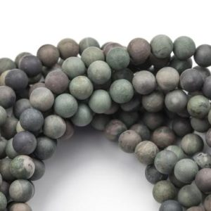 Shop Rainforest Jasper Beads! Matte Green Rainforest Jasper Beads, High Quality Round- Loose Beads 6mm 8mm 10mm 12mm – Full 16 inch strand AAA Quality | Natural genuine round Rainforest Jasper beads for beading and jewelry making.  #jewelry #beads #beadedjewelry #diyjewelry #jewelrymaking #beadstore #beading #affiliate #ad