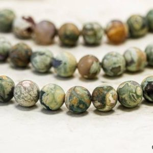 Shop Rainforest Jasper Beads! Matte Rhyolite 10mm/ 8mm/ 6mm Round beads strand Natural Genuine raw Rhyolite round beads. Beautiful Rainforest Jasper Unique pattern | Natural genuine round Rainforest Jasper beads for beading and jewelry making.  #jewelry #beads #beadedjewelry #diyjewelry #jewelrymaking #beadstore #beading #affiliate #ad