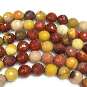 Shop Mookaite Beads! 10mm Faceted Mookaite Beads, Gemstone Beads, Wholesale Beads | Natural genuine faceted Mookaite beads for beading and jewelry making.  #jewelry #beads #beadedjewelry #diyjewelry #jewelrymaking #beadstore #beading #affiliate #ad
