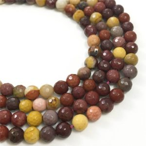 Shop Mookaite Jasper Faceted Beads! 6mm Faceted Mookaite Beads, Gemstone Beads, Wholesale Beads | Natural genuine faceted Mookaite Jasper beads for beading and jewelry making.  #jewelry #beads #beadedjewelry #diyjewelry #jewelrymaking #beadstore #beading #affiliate #ad