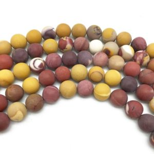 Shop Mookaite Beads! 8mm Matte Mookaite Beads, Round Gemstone Beads, Wholesale Beads | Natural genuine round Mookaite beads for beading and jewelry making.  #jewelry #beads #beadedjewelry #diyjewelry #jewelrymaking #beadstore #beading #affiliate #ad