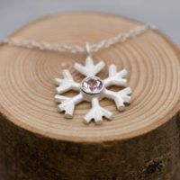 Snowflake Pendant In Silver- Morganite Silver Snowflake Necklace Pink Gem Necklace | Natural genuine Gemstone jewelry. Buy crystal jewelry, handmade handcrafted artisan jewelry for women.  Unique handmade gift ideas. #jewelry #beadedjewelry #beadedjewelry #gift #shopping #handmadejewelry #fashion #style #product #jewelry #affiliate #ad