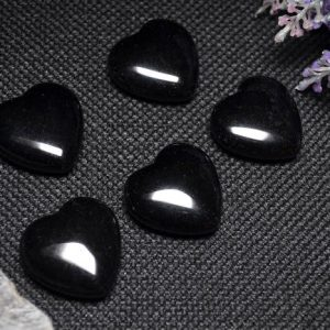 Shop Obsidian Stones & Crystals! Best Hand Carved Black Obsidian Polished Heart Shaped / Natural Black Obsidian Stone / worry Stone / decoration / special Gift-30mm | Natural genuine stones & crystals in various shapes & sizes. Buy raw cut, tumbled, or polished gemstones for making jewelry or crystal healing energy vibration raising reiki stones. #crystals #gemstones #crystalhealing #crystalsandgemstones #energyhealing #affiliate #ad