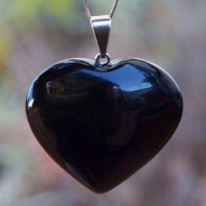 Shop Obsidian Shapes! Black Obsidian Heart Pendant – Obsidian Crystal Pendant – Healing Stones – Spiritual Jewelry – Chakra Pendant | Natural genuine stones & crystals in various shapes & sizes. Buy raw cut, tumbled, or polished gemstones for making jewelry or crystal healing energy vibration raising reiki stones. #crystals #gemstones #crystalhealing #crystalsandgemstones #energyhealing #affiliate #ad