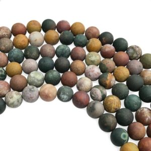 Shop Ocean Jasper Round Beads! 10mm Matte Ocean Jasper Beads, Round Gemstone Beads, Wholesale Beads | Natural genuine round Ocean Jasper beads for beading and jewelry making.  #jewelry #beads #beadedjewelry #diyjewelry #jewelrymaking #beadstore #beading #affiliate #ad