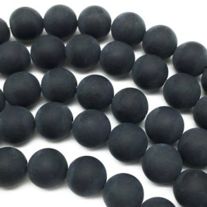 Shop Onyx Round Beads! 12mm Matte Black Onyx Beads, Round Gemstone Beads, Wholesale Beads | Natural genuine round Onyx beads for beading and jewelry making.  #jewelry #beads #beadedjewelry #diyjewelry #jewelrymaking #beadstore #beading #affiliate #ad