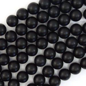 "Shop Onyx Round Beads! Matte Black Onyx Round Beads Gemstone 15"" Strand 3mm 4mm 6mm 8mm 10mm 12mm 14mm 