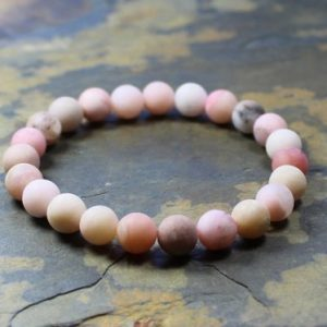 Shop Opal Bracelets! Pink Opal Bracelet, Pale Pink Bracelet, Pink Opal Jewelry, Mala Prayer Bracelet, Opal Mala, Heart Chakra Healing, Yoga Gifts For Women | Natural genuine Opal bracelets. Buy crystal jewelry, handmade handcrafted artisan jewelry for women.  Unique handmade gift ideas. #jewelry #beadedbracelets #beadedjewelry #gift #shopping #handmadejewelry #fashion #style #product #bracelets #affiliate #ad