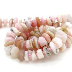 Shop Opal Chip & Nugget Beads! Pink Opal, Natural Pink Opal Nuggets Rough Cut Irregular Shape Loose Gemstone Beads – Assorted Size -Full Strand | Natural genuine chip Opal beads for beading and jewelry making.  #jewelry #beads #beadedjewelry #diyjewelry #jewelrymaking #beadstore #beading #affiliate #ad