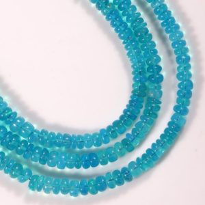 Shop Opal Rondelle Beads! BLUE ETHIOPIAN OPAL Smooth beads for jewelry making,Blue welo opal Gemstone Beads Opal Gemstone Natural Opal smooth rondelle beads 3-5mm. | Natural genuine rondelle Opal beads for beading and jewelry making.  #jewelry #beads #beadedjewelry #diyjewelry #jewelrymaking #beadstore #beading #affiliate #ad